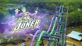 THE JOKER Free-Fly Coaster at Six Flags Great America