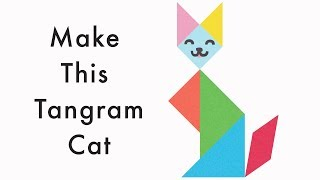 Make This Tangram Cat - Download A Free Tangram Puzzle Sheet In The Video Description