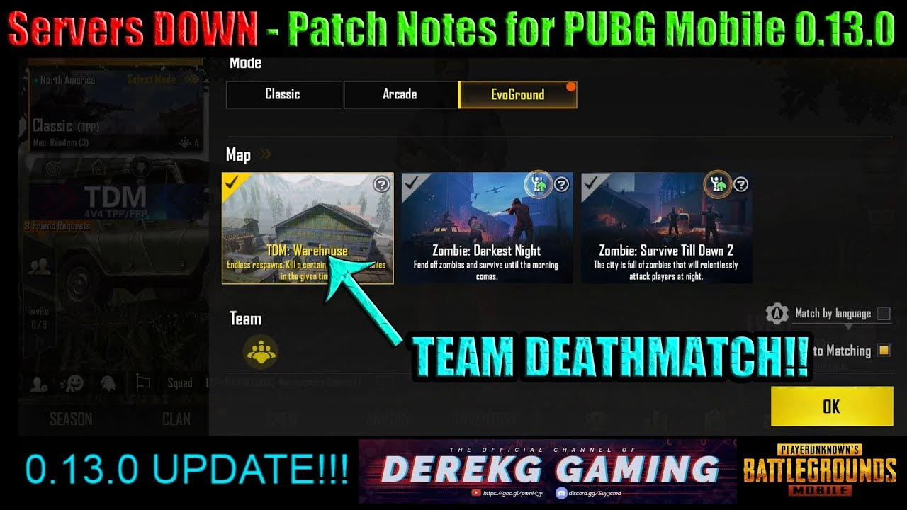 PUBG Mobile Servers DOWN for 0 13 0 GLOBAL UPDATE – What's New? Patch  Notes!!