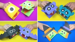 Halloween Crafts for Kids   Halloween Paper Hand Puppets