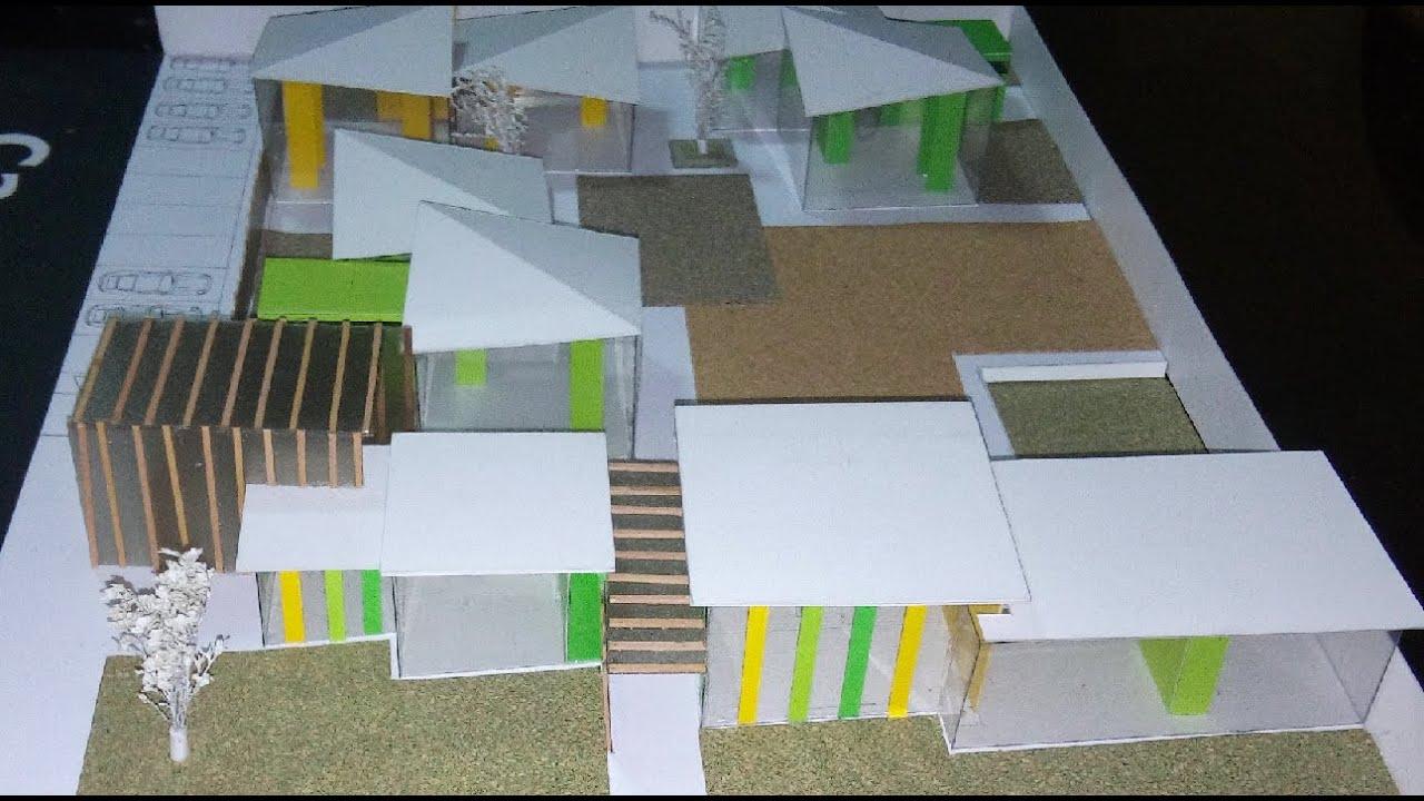 Maqueta de una guarder a upn arquitectura youtube for Maquetas de jardines