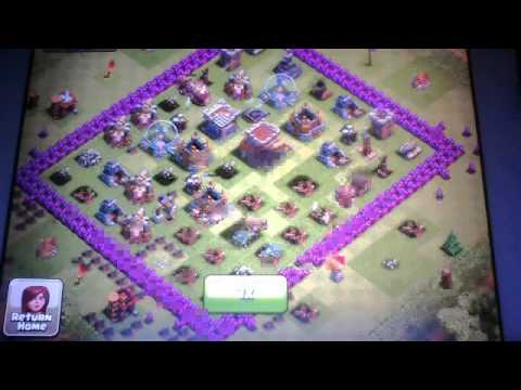 Clash of clans- huge raid total 530+k resources!!!!!!!!!!!