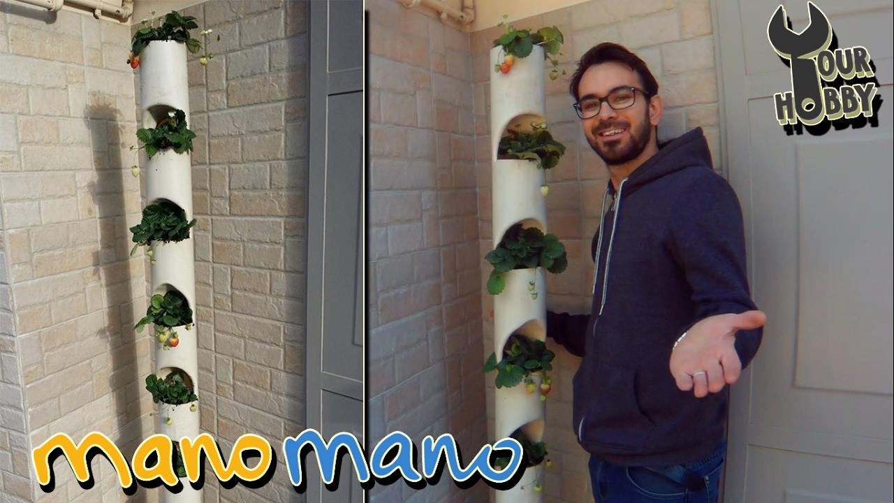 Orto verticale per coltivare fragole fai da te youtube for Bordi per aiuole fai da te