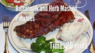 Buttermilk and Herb Mashed Potatoes Recipe