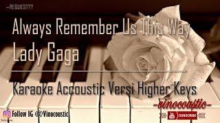 Baixar Lady Gaga - Always Remember Us This Way Karaoke Piano Versi Original Keys