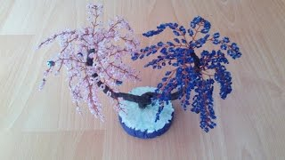 Бисерные цветы. красивые цветы из бисера. денежное дерево от сглаза