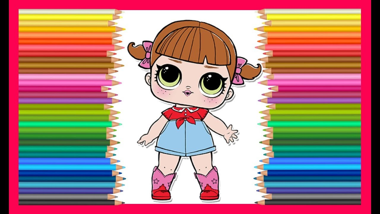 Куколка ЛОЛ пупсики LOL coloring Surprise Doll Lil ...