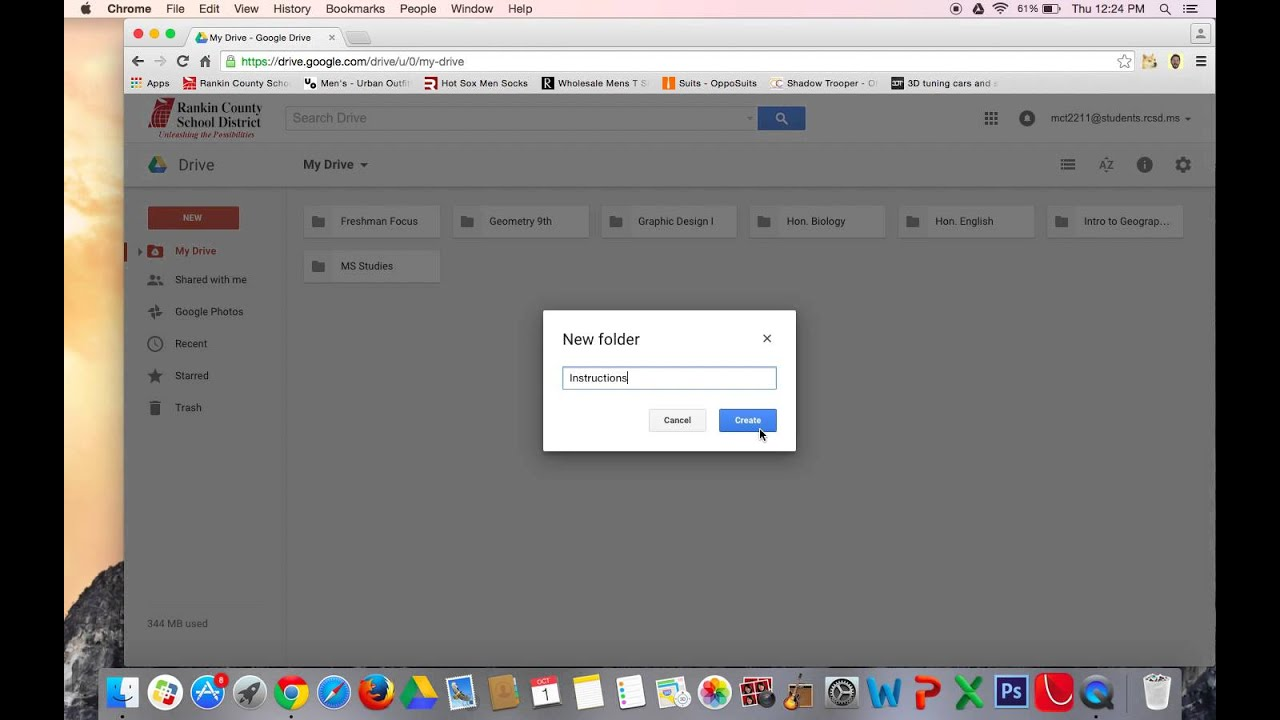 how to make folder in google drive