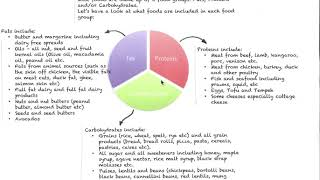 Nutrition Basics Part 1 - Pie Chart of Food Categories