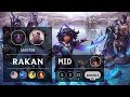 Rakan Mid vs Akali - NA Master Patch 9.14