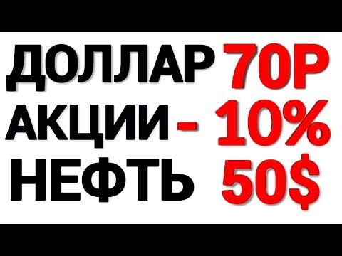 Рубль рухнет?Прогноз курса доллара на 2020 год. Девальвация рубля. Большой обвал акций 2020.