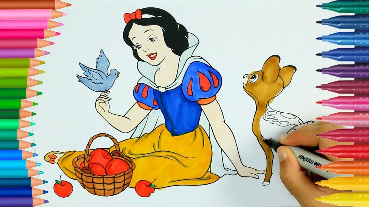 Pamuk Prenses Boyama Kitabı Boyama Videoları Renkleri