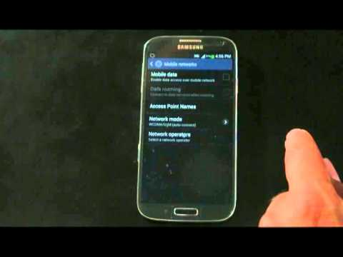How To Setup The Internet Settings For Samsung Galaxy S4 Which Running Jelly Bean OS (English)