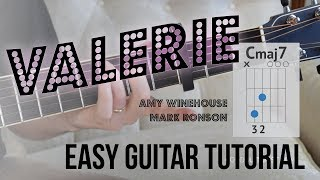 Download lagu Valerie Super Easy Guitar Tutorial Amy Winehouse Mark Ronson Version Simple Chords Strumming MP3