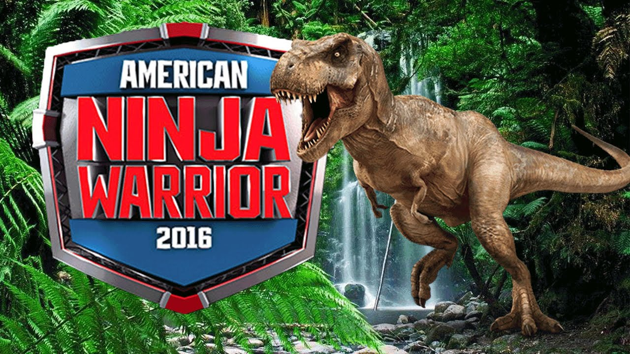 american ninja warrior trex jurassic park hd  youtube
