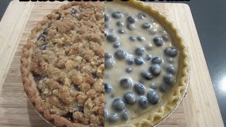 Blueberries & Cream Pie With Streusel Topping