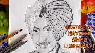 #TurbanKing #NavdeepSinghLudhianavi | Sketch of Navdeep Singh ludhianavi | Turban king Navdeep singh