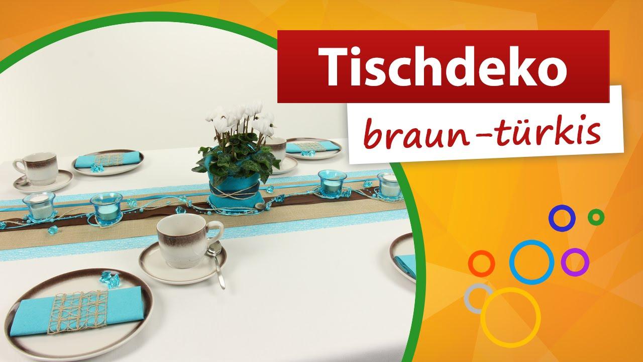 Tischdeko Turkis Braun Tischdekoration Trendmarkt24 Youtube