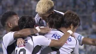 FKのチャンスからこぼれ球に反応したファン ウィジョ(G大阪)が強烈な...