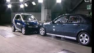 ► Smart Fortwo VS Mercedes E-Class - CRASH TEST