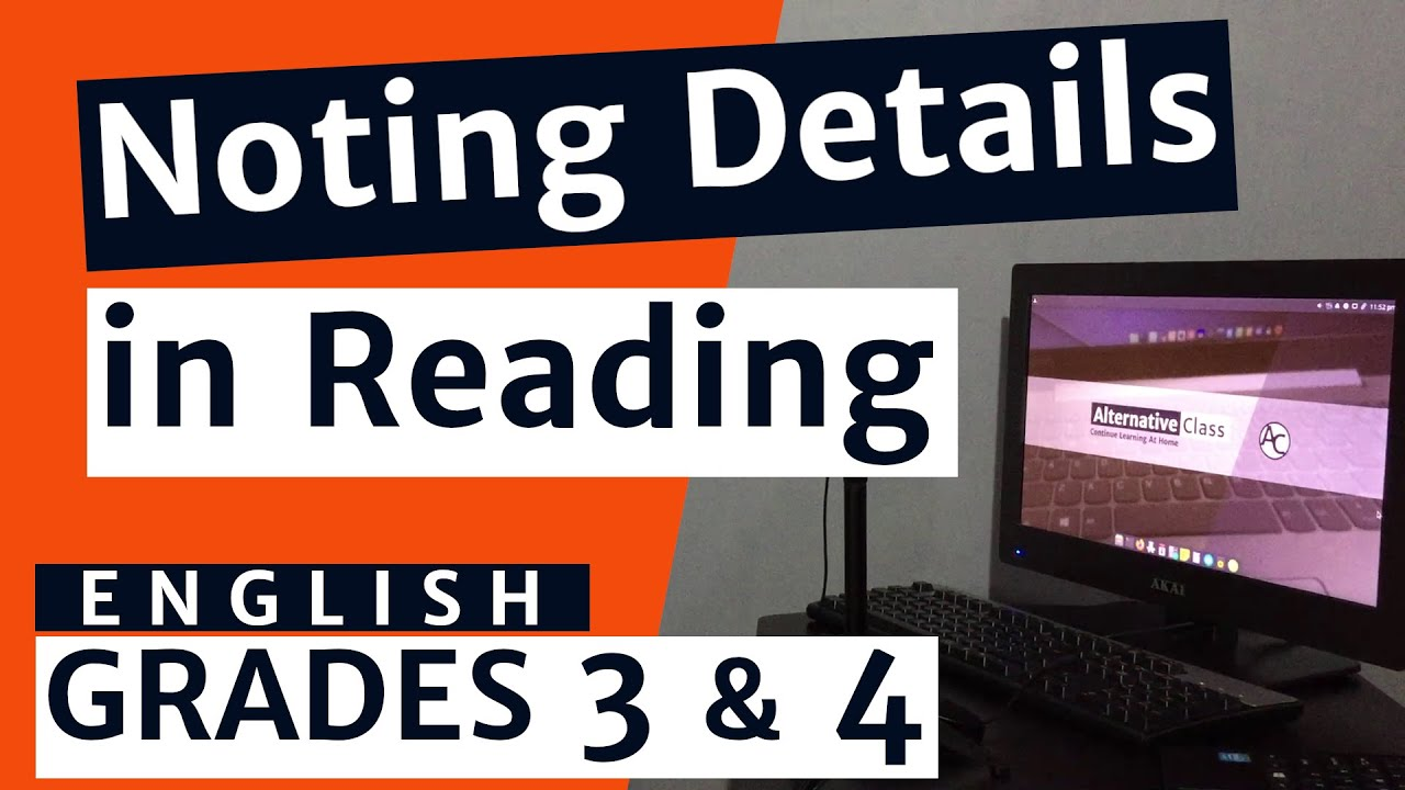 English Grade 3 (Grade 4) - Noting Details in Reading - YouTube [ 720 x 1280 Pixel ]