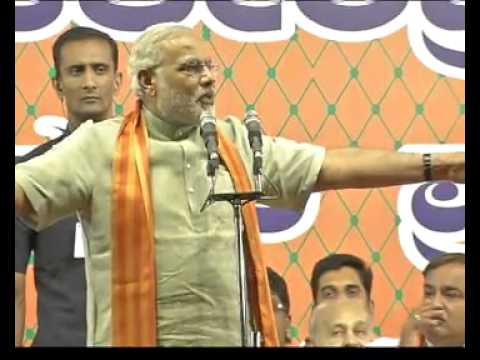 Shri Narendra Modi addresses a huge BJP Public Meeting at Bangalore