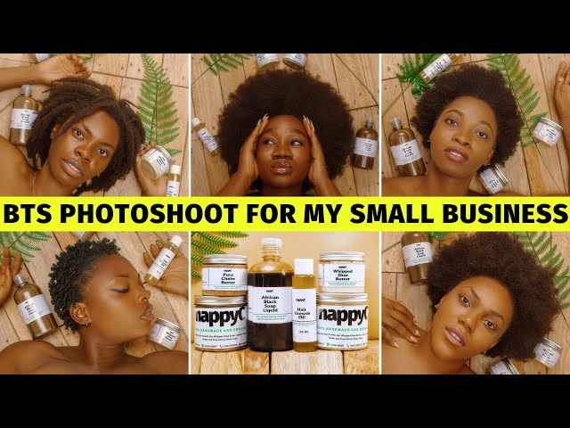 Nappyc Small Business BTS PHOTOSHOOT Vlog || Natural Hair Products Business Lagos Nigeria
