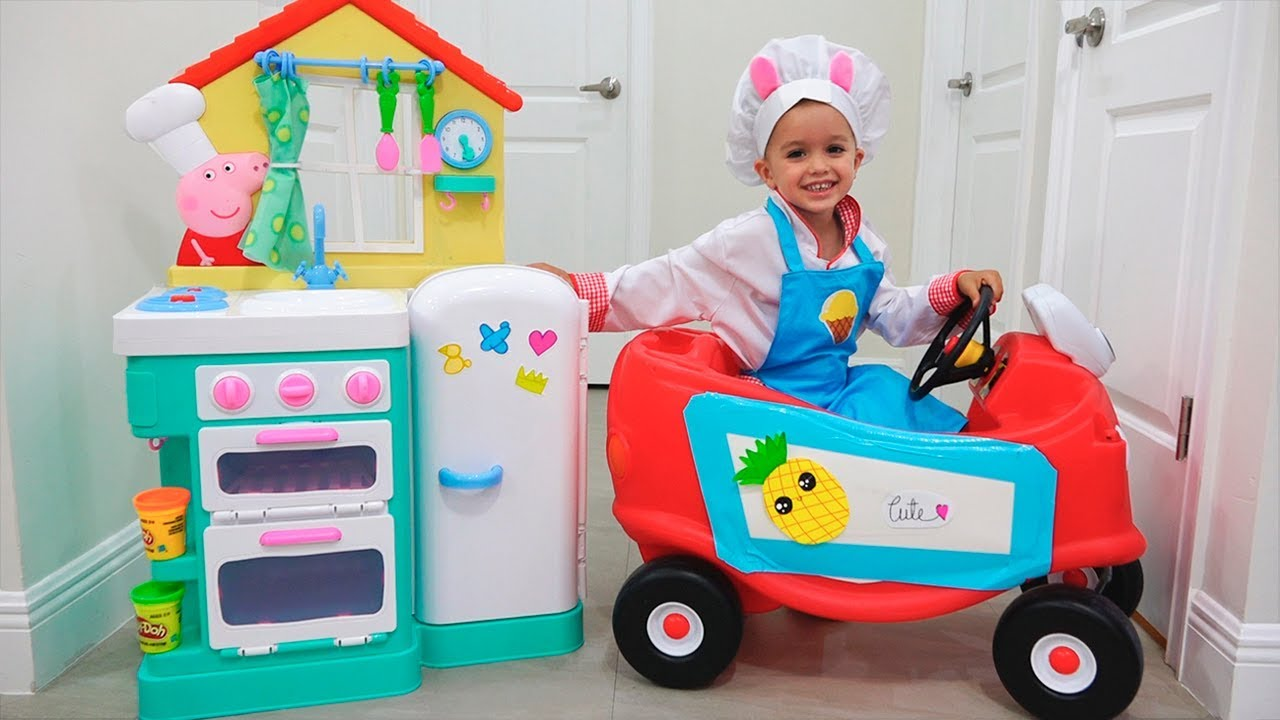 Download Vlad and Nikita play toy cafe Drive Thru