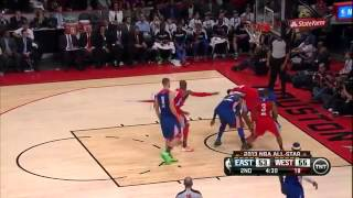 LeBron James 19 Points East vs West All Star Game Highlight 2_17_13