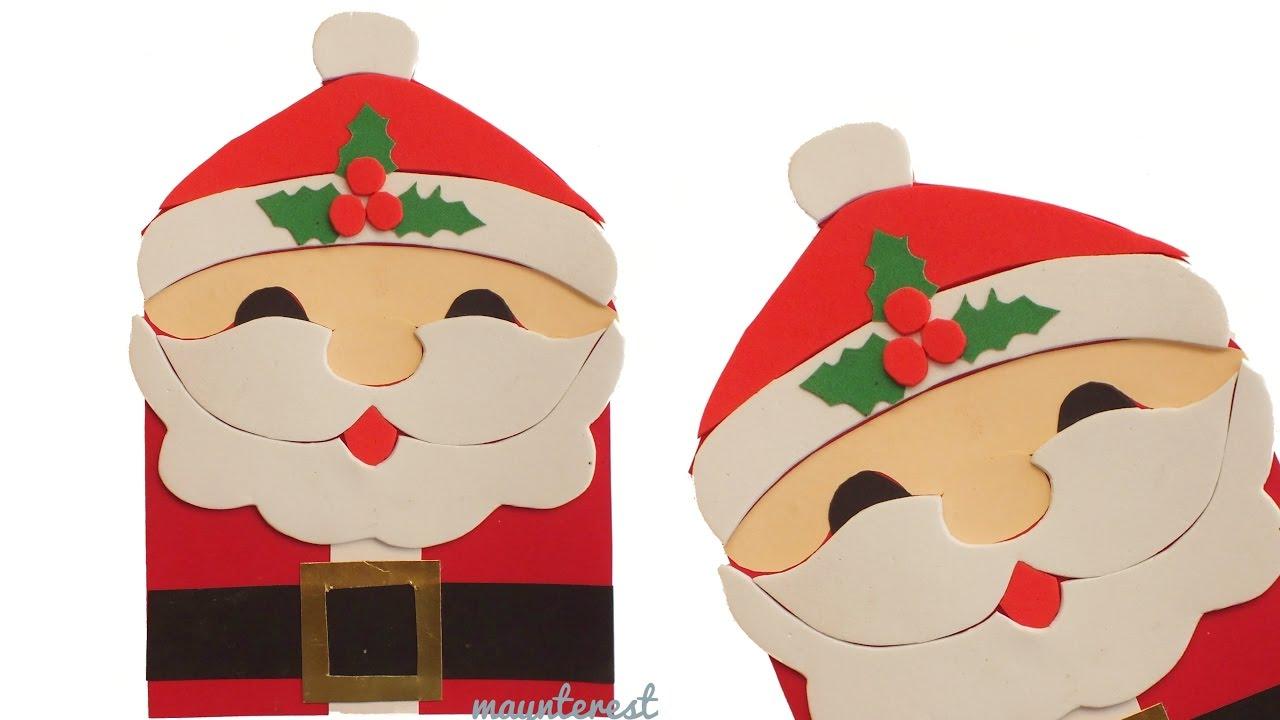 Diy santa claus christmas card greeting card youtube m4hsunfo