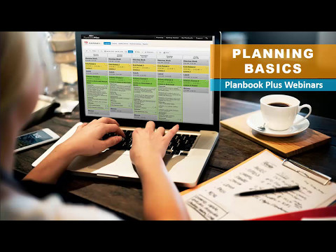 Basic Planning with Planbook Plus: 2017 Webinar