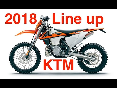 2018 ktm motocross bikes. wonderful bikes 2018 ktm off road line reveal  new efi 2 stroke dirt bike and ktm motocross bikes