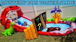 Don't Slide through the Wrong Mystery Box Challenge!!! Slip and Slide Water Slide!