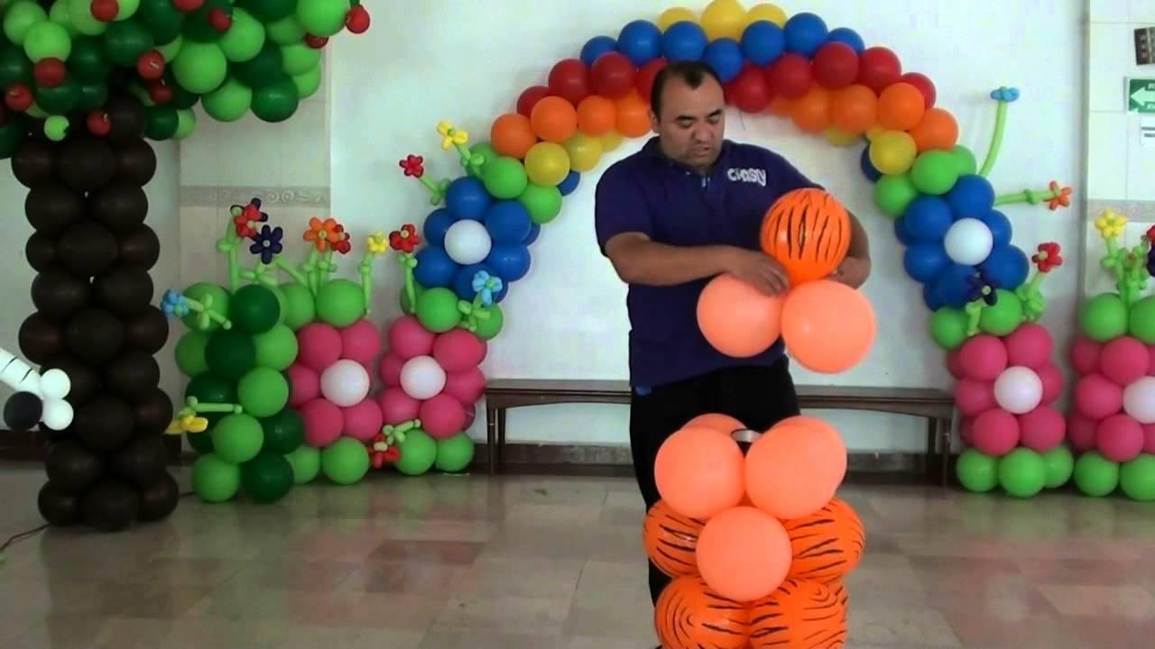 TIGRE CON GLOBOS CHASTY - YouTube