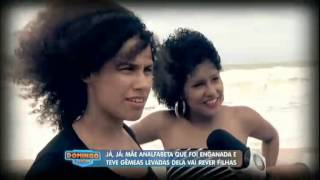 Mãe se reencontra filhas gêmeas/ Domingo Show 02-11-2014