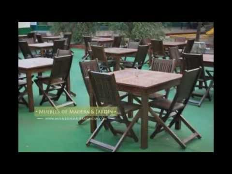 Sillas para restaurantes - Muebles de madera y jardín .COM - YouTube