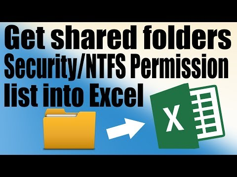 How To Get Shared Folders Security / NTFS Permission List Into Excel