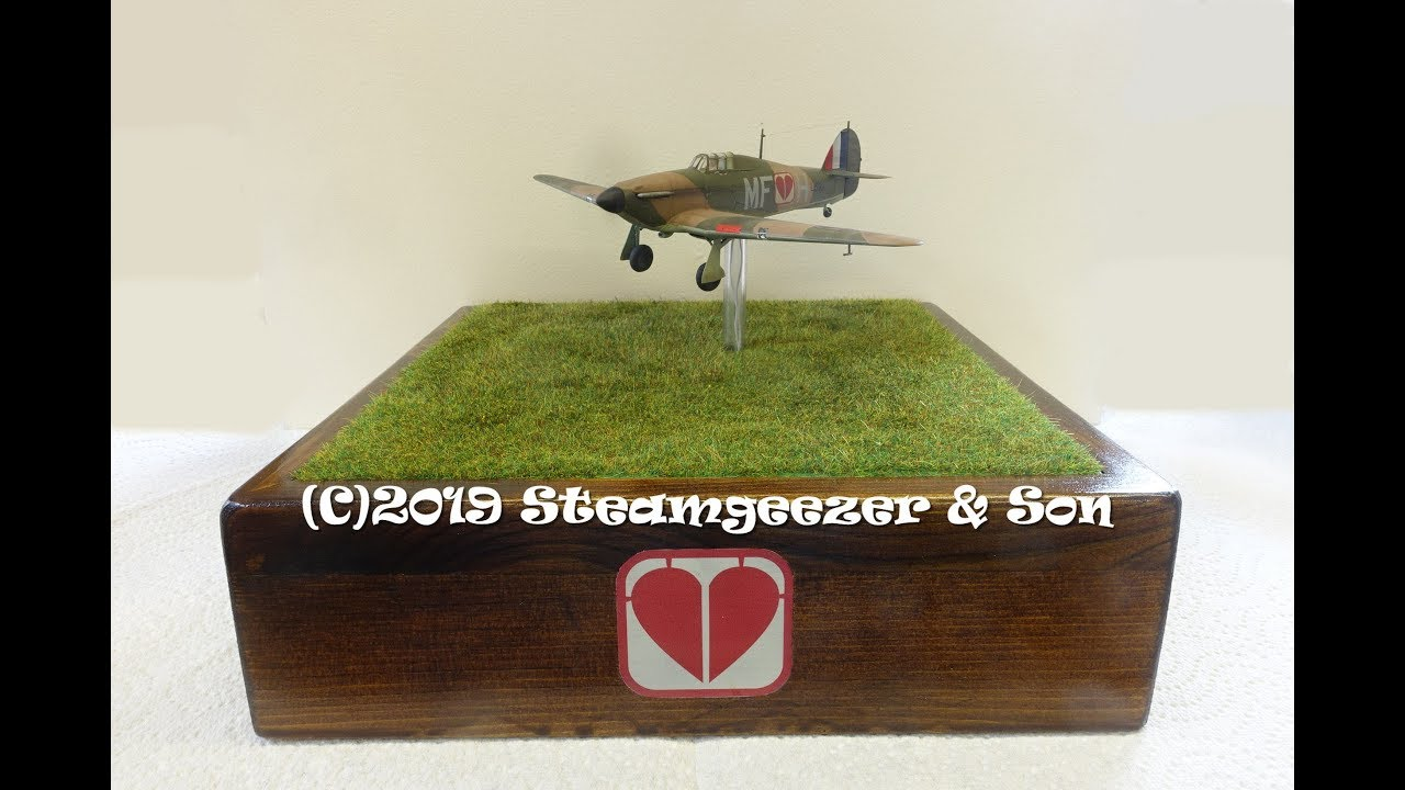 Building the Airfix 1/72 Hawker Hurricane with added lights and motor for a  charity auction