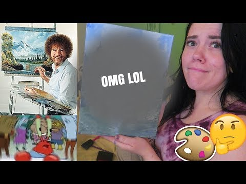 I TRY FOLLOWING A BOB ROSS PAINTING