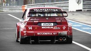 UNMUFFLED Alfa Romeo 155 V6 Ti singing around Nürburgring GP-Strecke!