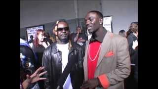 International Pimping, Akon and T-Pain first interview! Showing off bling n grill