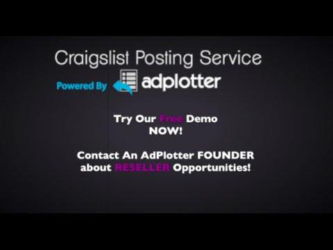 Craigslist Posting Service By AdPlotter