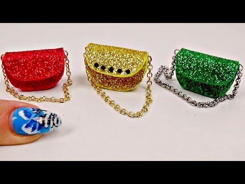 Miniature purse diy │ Diy miniature bag tutorial │ Doll Stuff