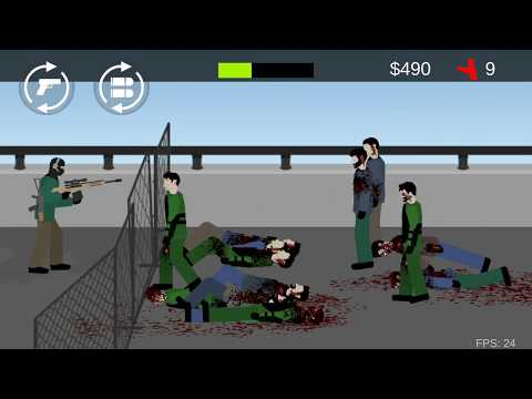 Flat Zombies: Cleanup & Defense / Wave 23  (by PaVolDev) / Android Gameplay HD