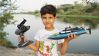 Kids Play With Camera Rc Boat Remote Control Unboxing & Testing