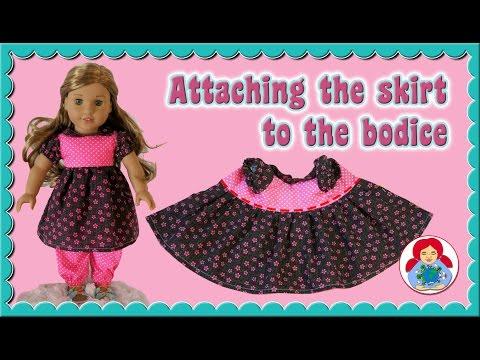DIY | American Girl Doll Dress: Attaching The Skirt • Sami Doll Tutorials
