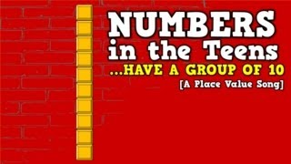 Numbers in the Teens (Have a Group of 10)-     [a place value song for kids] thumbnail