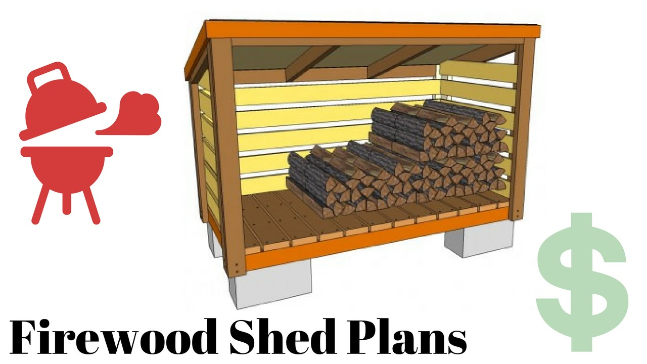 Firewood Storage Shed Plans Youtube