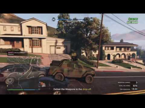 Grand Theft Auto V bunker delivery