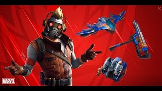 NEW STAR LORD SKIN GAMEPLAY! (Fortnite Battle Royale)